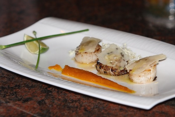 Scallops with Truffle Oil